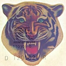 Original Vintage Bengal Tiger Mini Iron On Transfer