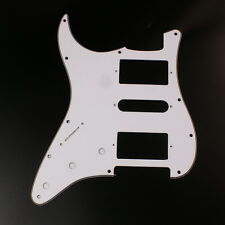 Left Handed Strat HSH Layout Style Guitar Pickguard ,3ply White