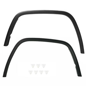 Fender Flares Set For 2011-2016 Jeep Grand Cherokee Front Black Plastic 2Pc