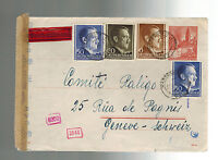 1943 Poland Germany  Cover to Comite Relico Switzerland Jewish War Victim Relief