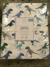Pottery Barn Kids Warren Dinosaur Sheet Set Full NEW 4 Piece