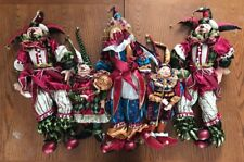 Jester Elf Set Of 5 Ornate Tall KASMA LTD. Dolls Soft Body Porcelain Head Hands