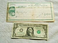 1880 C. F. Prentice to Beebe & Tillinghast Dry Goods West Valley NY Cancel Check