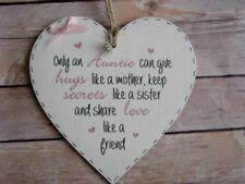 Heart Auntie Decorative Plaques & Signs