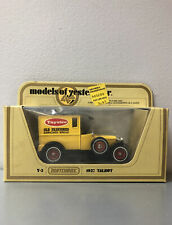 Vintage 1978 Lesney Matchbox Models Of YesterYear Y-5 1927 Talbot