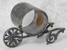 ATQ VICTORIAN PAIRPOINT WHEELBARROW FIGURAL SILVERPLATE NAPKIN RING