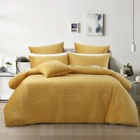 Bianca Alden Super Soft Velvet Quilt Cover Set Gold