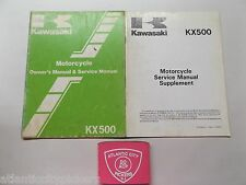 CR 1985 KAWASAKI KX500 OWNERS SERVICE REPAIR MANUAL 99920-1210-01 & SUPPLEMENT