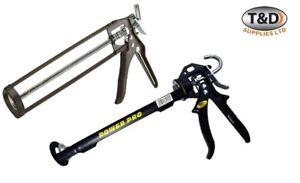 Everbuild Silicone Sealant Mastic Gun Adhesive Caulking Skeleton Gun