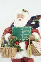Vtg 2001 Clothtique Possible Dreams Caroling Santa Wine Fruit Bread Baskets Gift