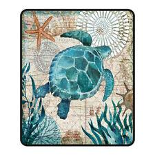 Dolphin/Octopus Printed Animal Throw Blanket, Digital Printing,100% Polyester