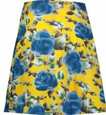 BNWT RRP£200 MARC BY MARC JACOBS AUTHENTIC YELLOW & OCEAN BLUE FLORAL SKIRT UK16
