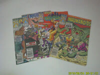 Inhumanoids #1 2 3 4 Complete Set Run Marvel Star Comic Books 1987 Vintage Dille