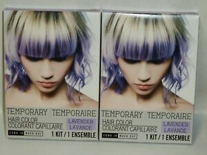 2 Temporary Hair Color Kit Just Comb In Your Done! Shampoo Its Out LAVENDER