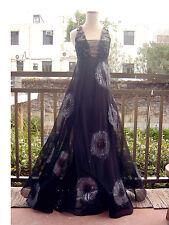 Metallic Craftsmanship BARNEY CHENG DeepV Gown Dress S to M