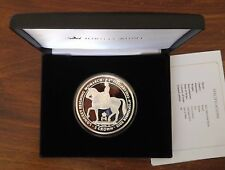 ISLE OF MAN -  RARE BIG 5oz SILVER PROOF 5 CROWNS COIN 2015 YEAR LONGEST MONARCH