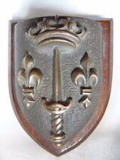 INSIGNE EN BRONZE MARINE NATIONALE JEANNE D'ARC / TAPE DE BOUCHE MINIATURE