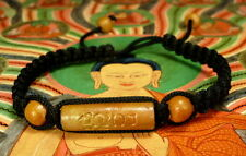 Buddha 'MALA' Sacred Blessed  BLACK BRACELET REAL LEK NAM PEE THAI MAGIC STEEL