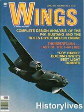 Wings Magazine V6 N3 P-51 Mustang Rolls Royce Merlin Engine Havoc Bomber F-84