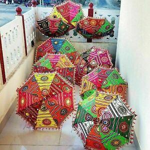 10 PC Lote Indio Mujer Parasol Paraguas Boda Mehndi Decoración Hogar