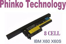 NEW 8 Cell Battery Lenovo IBM X60 X60S X61S 40Y6999 40Y7001 FRU 92P1163 92P1165