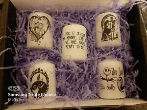nightmare before Christmas  votive candle set 2