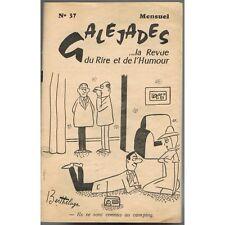 GALÉJADES Revue du RIRE de l'HUMOUR Dessins de BERTHELAGE Rire et Jeux 1961 N°37