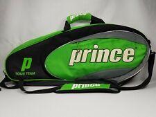 PRINCE PRO TOUR Team Pack Tennis Racket Bag Green w/ Shoulder Strap Good Used