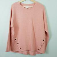 SEED HERITAGE | Womens Snap Button Pink Jumper / Top [ Size M or AU 12 / US 8]