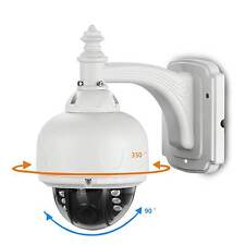 HD 1200TVL Mini PTZ Speed Dome Camera Outdoor Auto 4x zoom IR-Cut 2.8-12mm Lens
