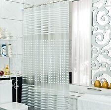 Rideaux de douche transparents en tissu