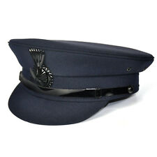 62cm Womens Navy Hostess Security Guard Drivers Hat Cap Waterproof Top 52cm