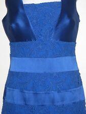 Sachin + Babi Noir Blue Lace Panel Cut Out Dress Sz S NWOT $710