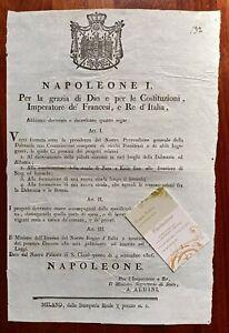 W784-NAPOLEONE I. BONIFICHE IN DALMAZIA & ALBANIA  NUOVE STRADE IN BOSNIA,1806