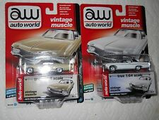 AUTO WORLD LOT OF 2 1970 CHEVY IMPALAS 1 WHITE 1 TAN VINTAGE MUSCLE 2017