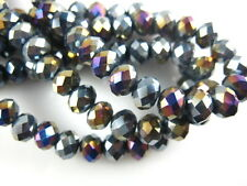 Hot 100pcs Loose Crystal Glass Faceted Flat Round 4mm Spacer Beads Findings
