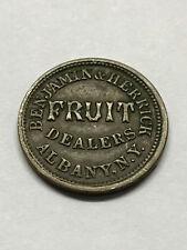 1863 Civil War Token Albany Ny. Fruit Dealers Xf #13837