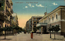 Port Said Būr Saʿīd Ägypten Egypt ~1910 Post Office Street Postamt Straße People