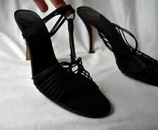 Black Sparkly Strappy Mules Shoes by Ted Baker
