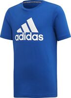 adidas Junior T-Shirt Tee Bos Boys Youth Essentials Cotton Blue Kids Sport Casua