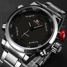 Luxury Mens Watch Waterproof Stanless Steel Analog Quartz Army Sport Wrist Watch