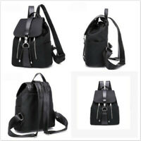 Women's Faux Leather Backpack Anti-Theft Rucksack School Shoulder Bag Satchel S