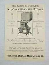 1887 Chicago Illinois Adams & Westlake Manufacturing Stoves Oil Advertisement