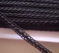 """ุ6 yds vintage  trims fringe size 10 mm(3/8"""") black"""