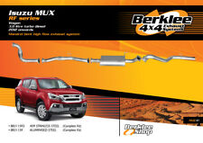 Isuzu MUX RF 3.0L TD Turbo Back High Flow Exhaust Stainless Steel