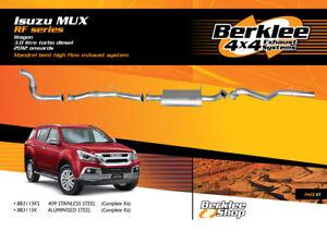 Isuzu MUX RF 3.0L TD Turbo Back High Flow Exhaust Aluminised Steel
