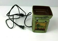 SCENTSY Lodge Warmer Full Size Retired Fish Moose Bear Pine Tree Green Rustic