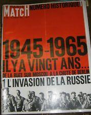 Paris Match N°823 16 janvier 1965 Numéro historique Invasion de la Russie 40 ans