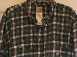 Carhartt Men's FR Long Sleeve Button Down Shirt 3XL