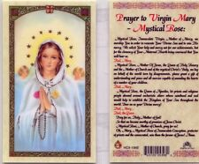 5 Prayer Cards to Virgin Mary Mystical Rose Immaculate Virgin Catholic Holy Card
